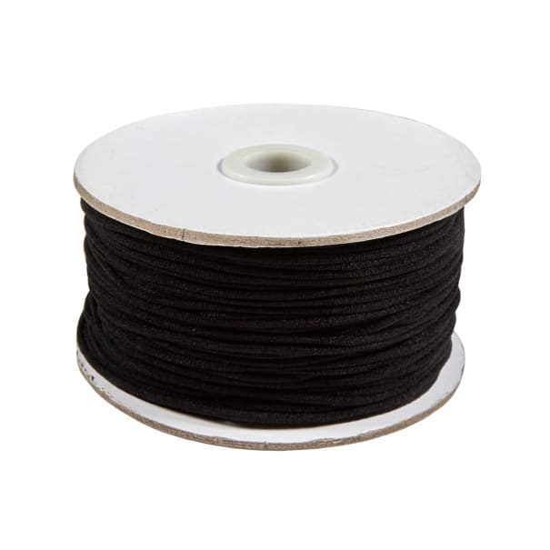 1 8 Soft Knit Elastic Cord 100 Yard Spool Black Fabric Com
