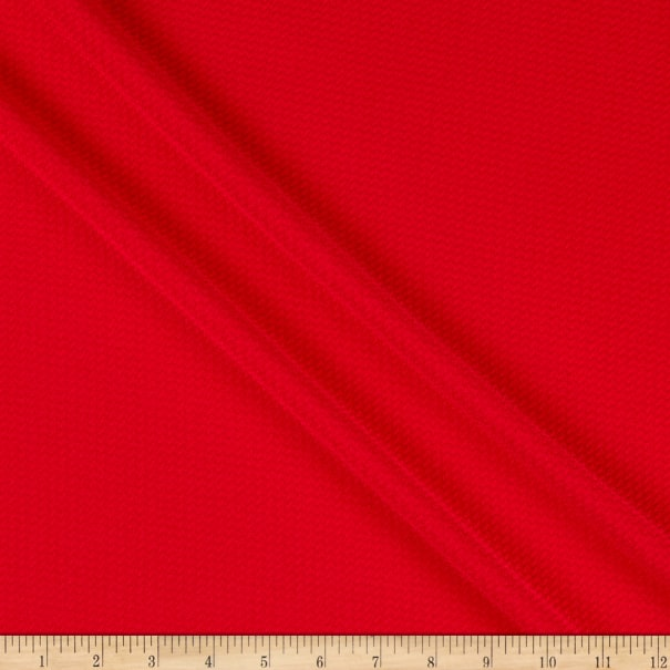 Bullet Stretch Knit Solid Red