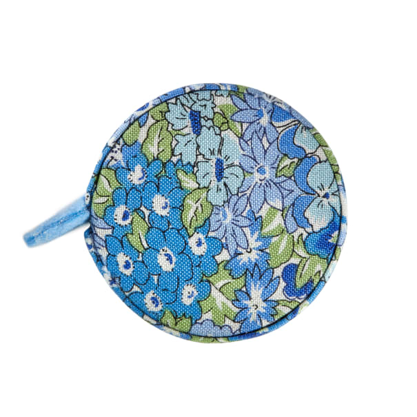 Liberty Fabrics Tape Measure Wisely Grove Blue