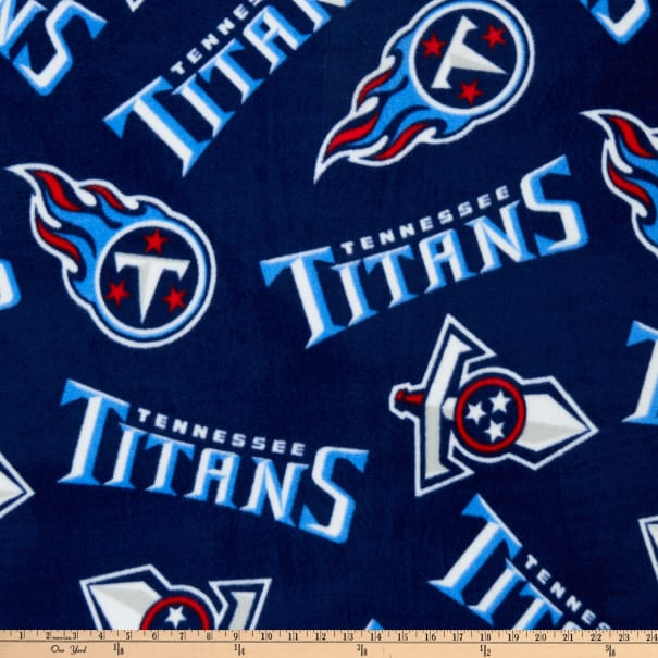 NFL Fleece Tennessee Titans Navy Blue/Red