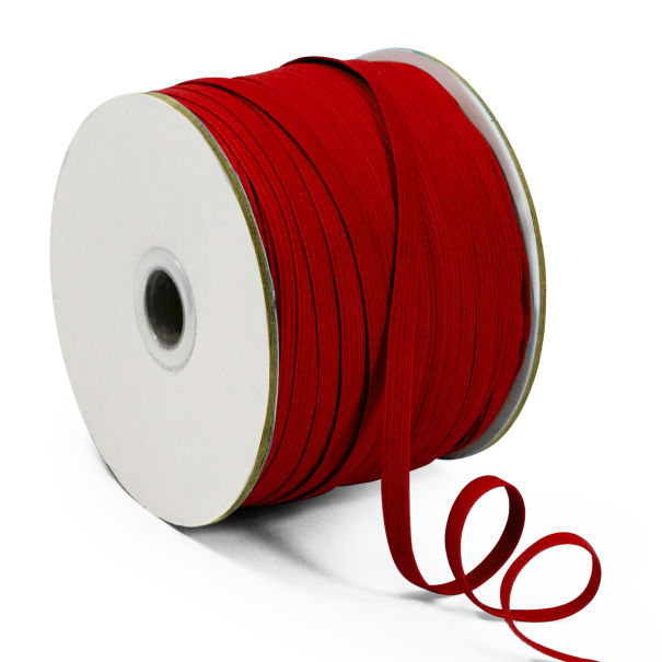"1/4"" Elastic Band - 100 Yard Spool Red"