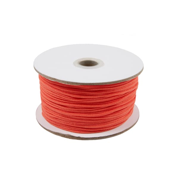 "1/8"" Soft Knit Elastic Cord - 100 Yard Spool Orange"