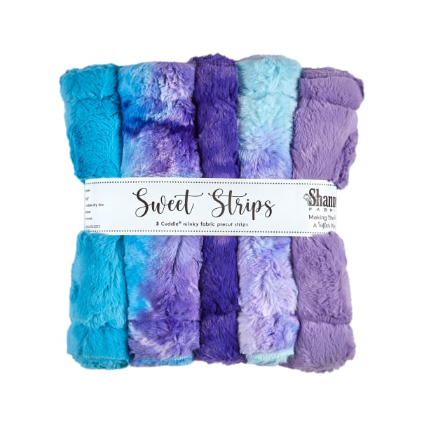 """Shannon Minky Cuddle 10"""" Strips 5 Pack Magic"""