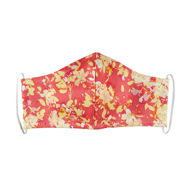 Fabtrends Cotton Sateen Facemask Floral Coral/Peach
