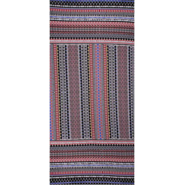 Fabtrends Ity Ethnic Double Border Coral Lilac