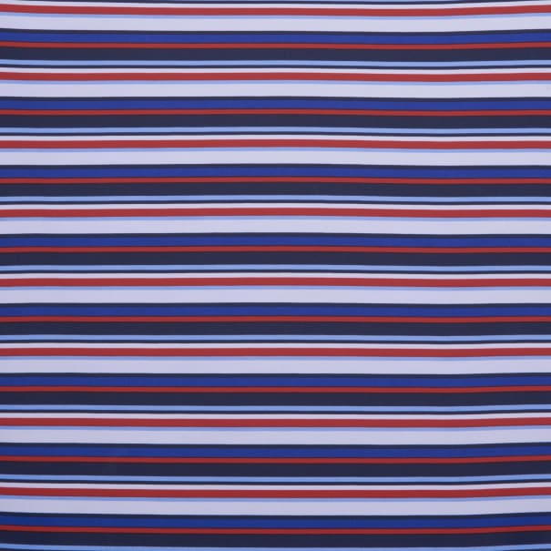 Fabtrends Wool Dobby Stripe White Royal Red
