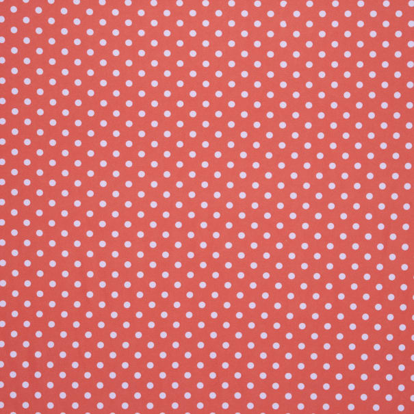 Fabtrends DTY Asprin Dot Coral White