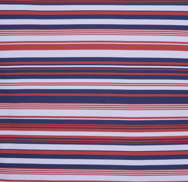 Fabtrends Wool Dobby Stripe Ivory Coral Navy