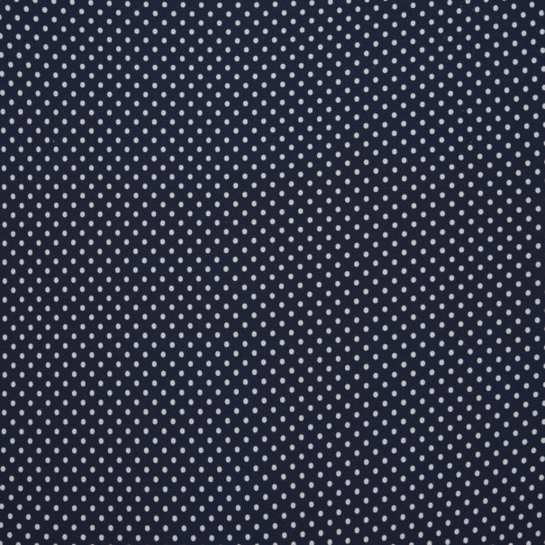Fabtrends Bubble Crepe Dot Navy White