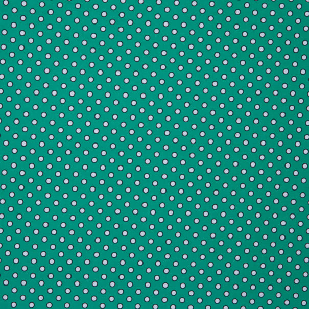 Fabtrends DTY Biadere Dot Green White