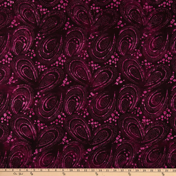 Banyan Batiks Stardust Curved Berries Orchid