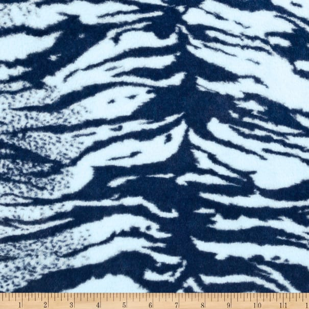Shannon Minky Luxe Cuddle Seal Tiger Navy