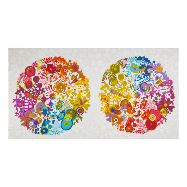 Art Theory Grand Circle Panel in Day by Alison Glass Andover Fabrics Art Theory White Panel