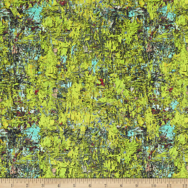 Benartex Poured Color Impressions Green/Turquoise