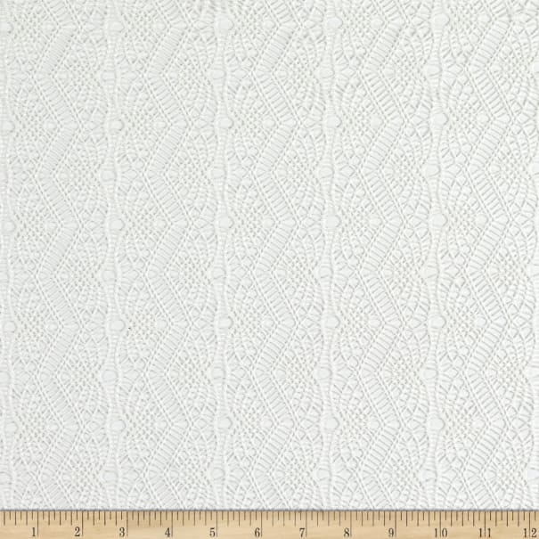 Fabtrends Solid Crochet Knit Natural