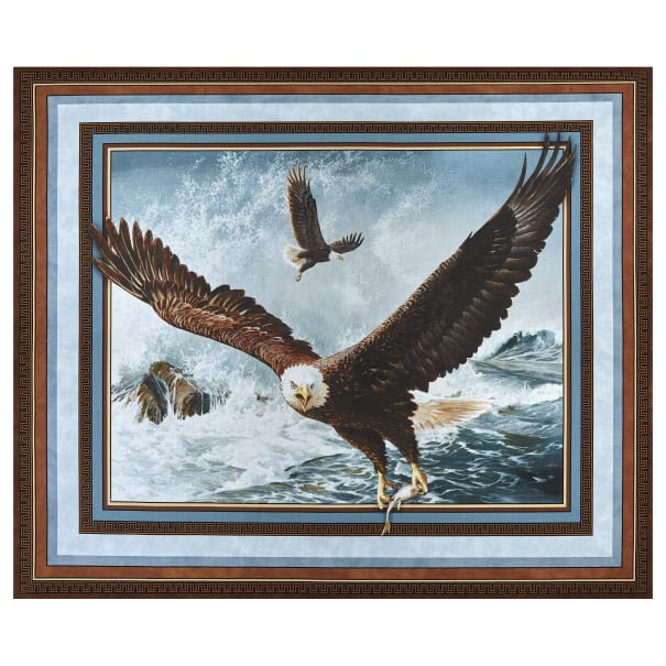 """Wild Wings Digital Quest Of The Hunter Wall 36"""" Panel Brown"""