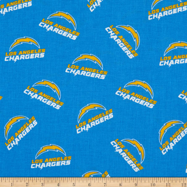 NFL Cotton Broadcloth Los Angeles Chargers Blue