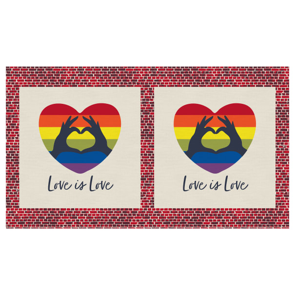 EXCLUSIVE Mister Domestic Love is Love Love is Love 24'' Panel Rainbow Fabric
