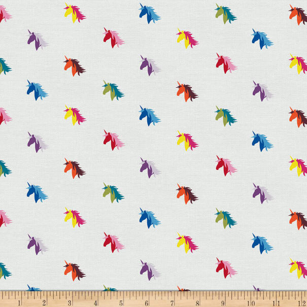 EXCLUSIVE Mister Domestic Love is Love Magical Unicorn Rainbow Fabric
