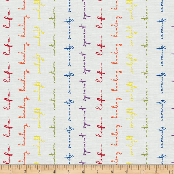 EXCLUSIVE Mister Domestic Love is Love Pride Stripes Writing Rainbow Fabric