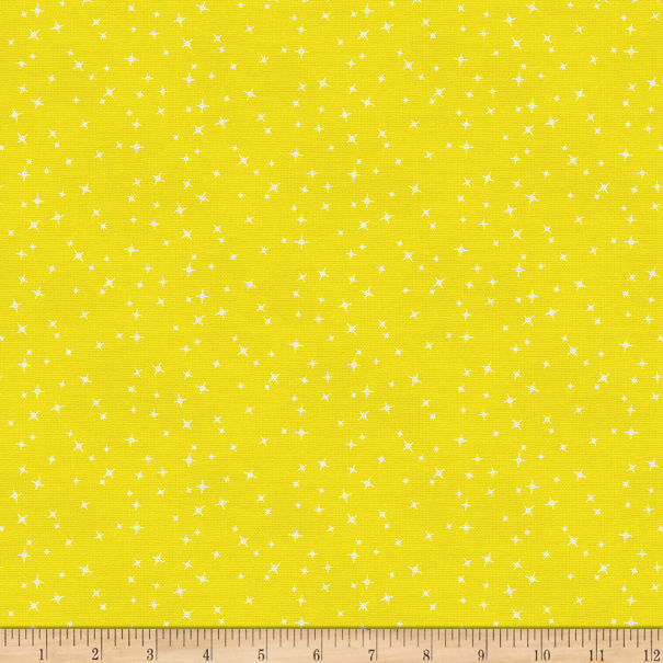EXCLUSIVE Mister Domestic Love is Love Sparkle Yellow Fabric