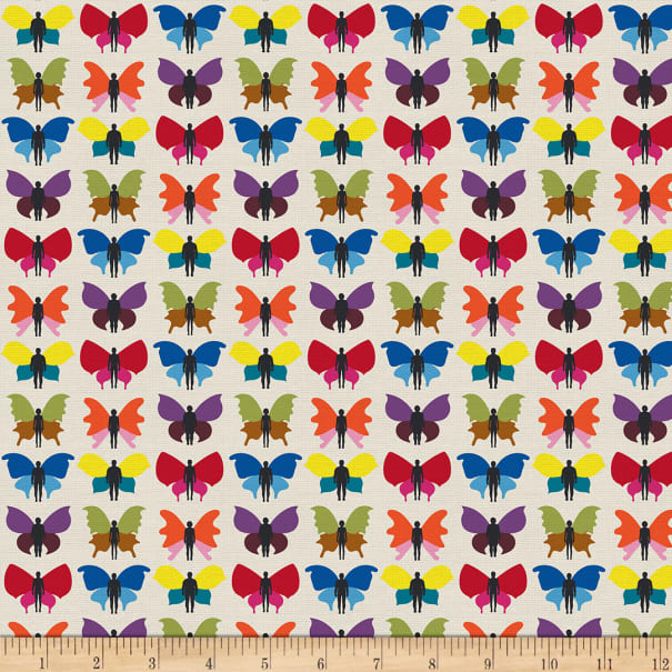 EXCLUSIVE Mister Domestic Love is Love Transformation Rainbow Fabric