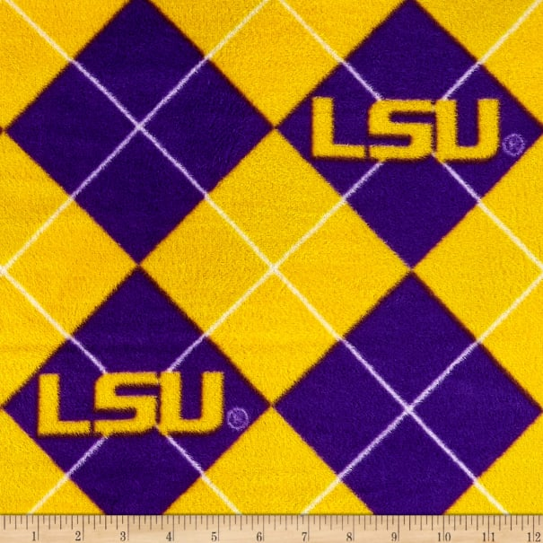 NCAA Louisiana State Tigers Fleece Argyle Purple/Gold