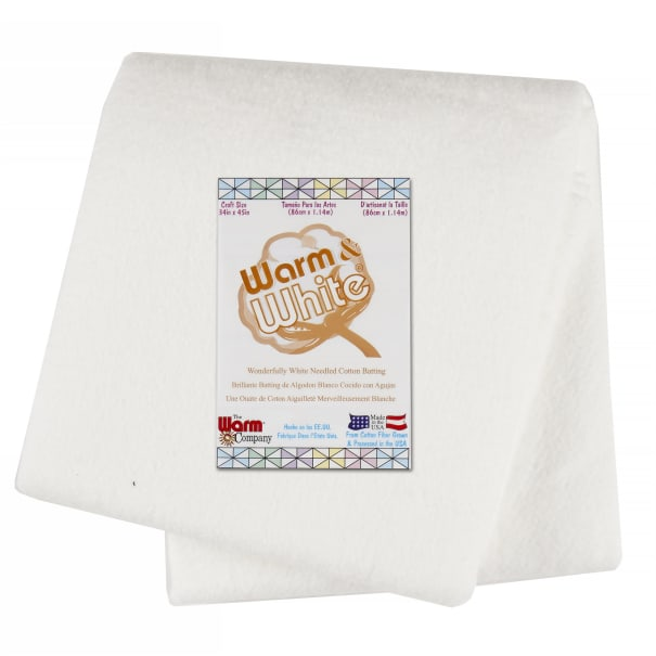 Warm & White Cotton Batting (34'' x 45'') Craft Size