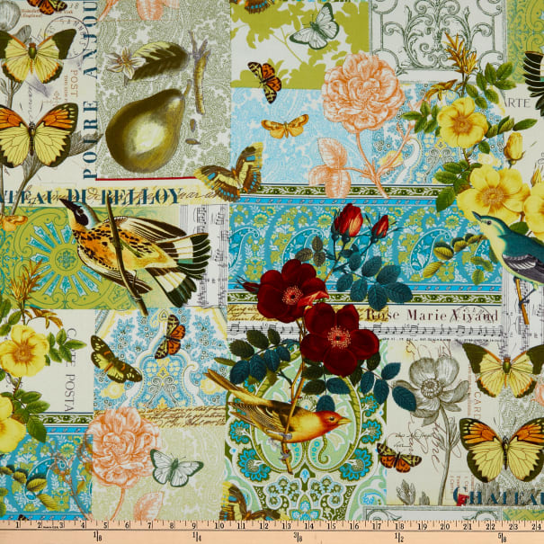 Michael Miller French Journal Collection Anjou Pour Vous Yellow