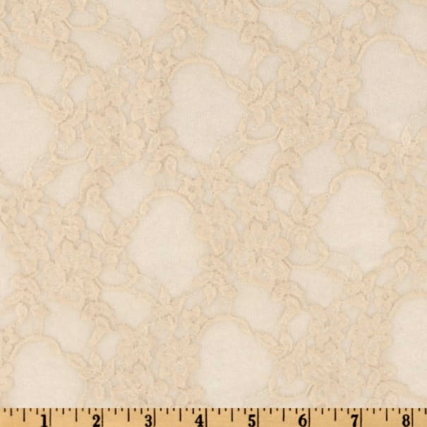Giselle Stretch Floral Lace Champagne