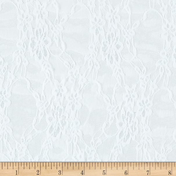 Giselle Stretch Floral Lace White