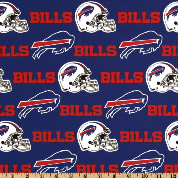 Nfl Cotton Broadcloth Buffalo Bills Red Royal Fabric Com
