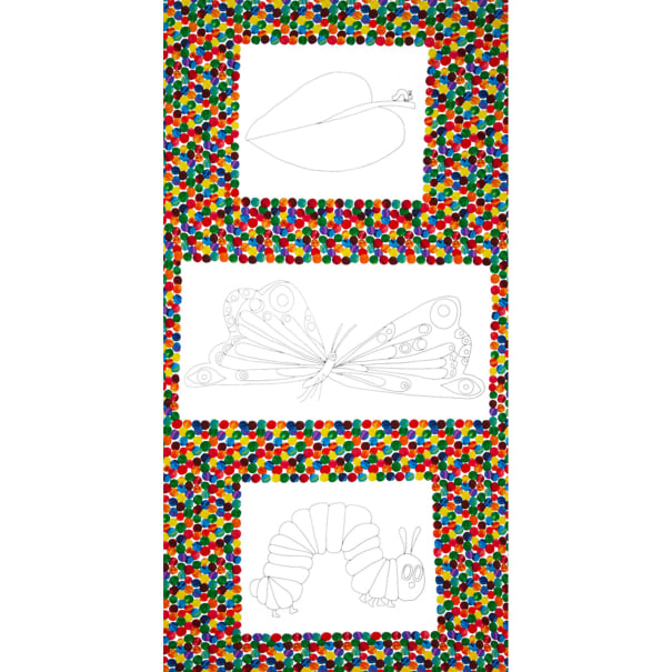The Very Hungry Caterpillar Coloring Book Panel Multi - Fabric.com