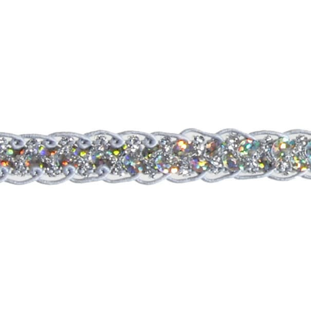 "1/2"" Sequin Braid Cord Trim Silver"