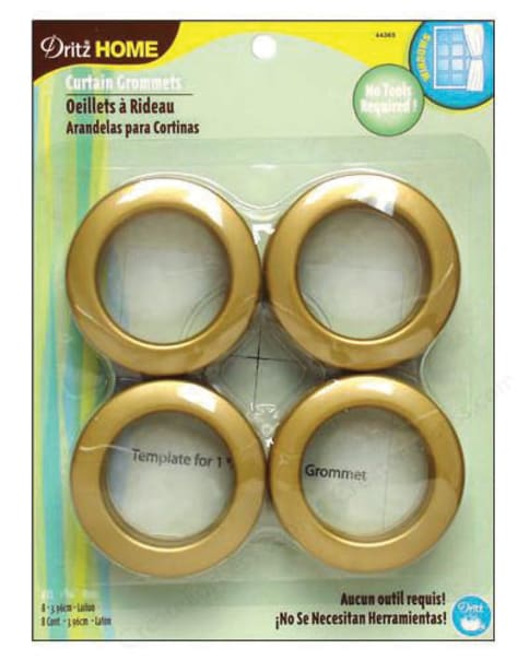 Curtain Grommets 8 Pack Brass 1