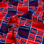 NCAA Mississippi Rebels Broadcloth Blue/Red