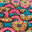 Whisper Plush Fleece Ombre Doughnut Multi
