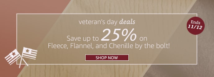 Veterans Deals - 25% on Bolts