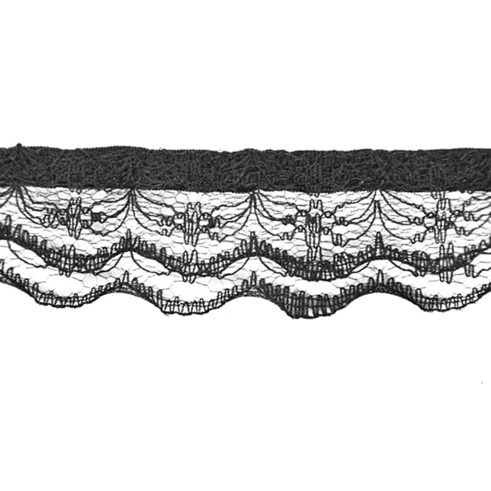 1 Quot Lace Trim Black Discount Designer Fabric Fabric Com