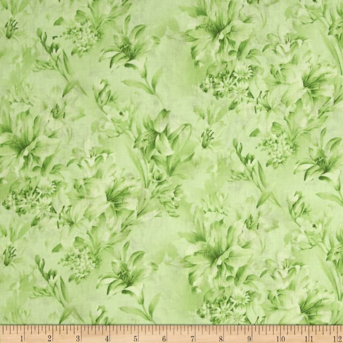 Day Lily 108 Quot Wide Quilt Backs Floral Green Discount