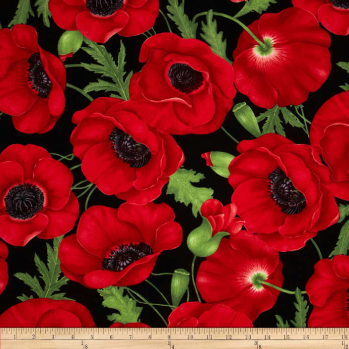 Timeless treasures poppies large poppy red discount designer zoom timeless treasures poppies large poppy red mightylinksfo