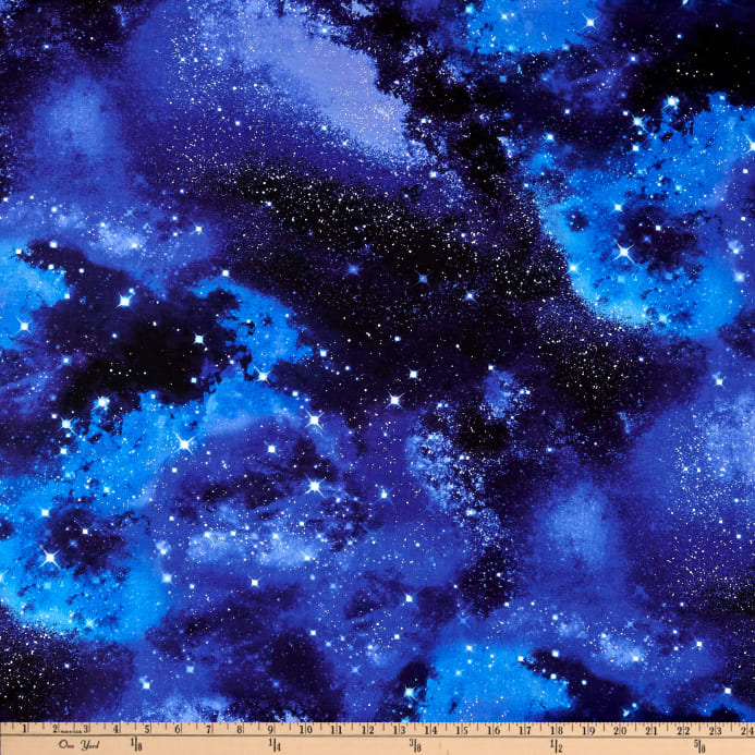 Timeless treasures space galaxy discount designer fabric for Space themed fabric