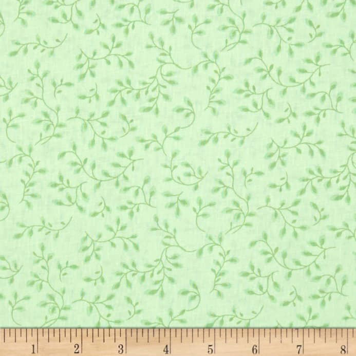 108 Wide Quilt Backing Folio Vines Pale Green Discount Designer