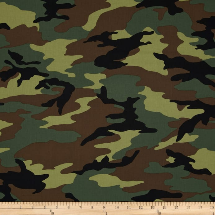 Camouflage Wallpapers: 44'' Camo Army Camo Green Fabric From $7.62/yd