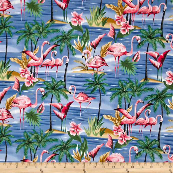 Hoffman Tropical Collection Flamingo Blue Discount