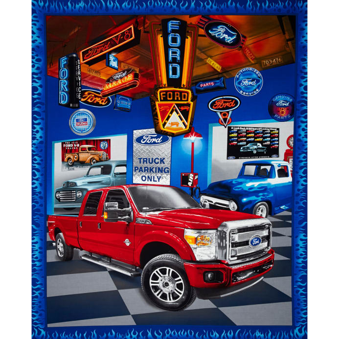 Ford f150 truck panel discount designer fabric for Orange motor co inc