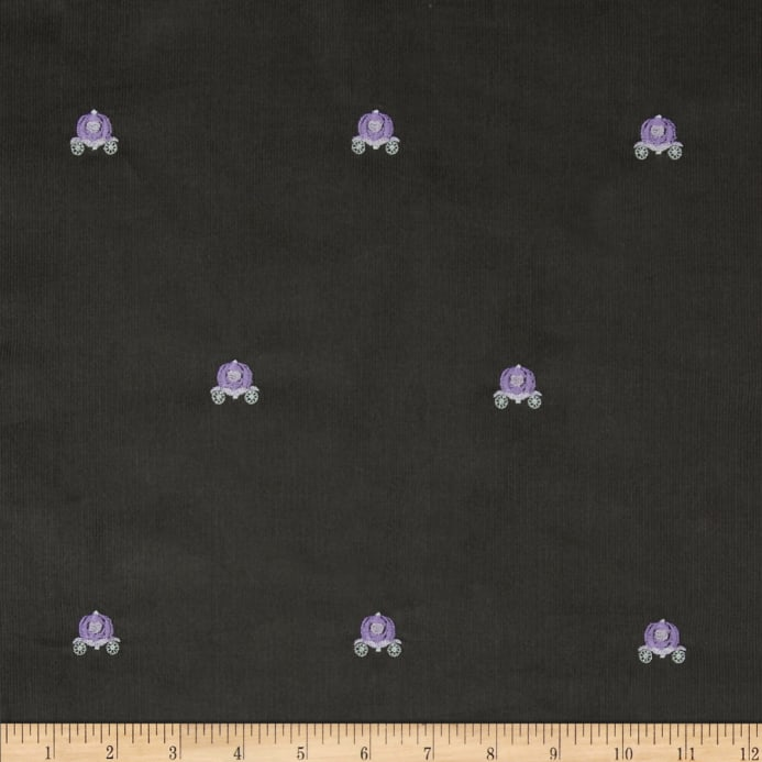 efbb92010c Embroidered 21 Wale Corduroy Carriage Graphite/Purple - Discount ...