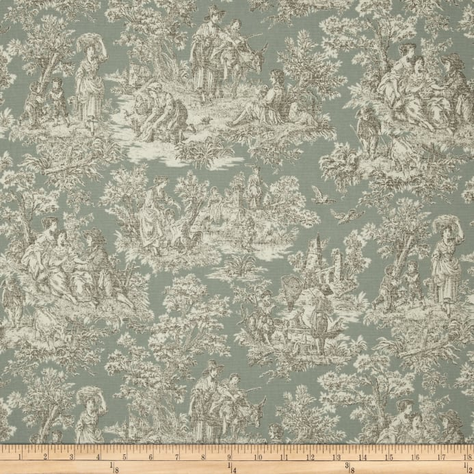 Waverly Rustic Life Toile Bliss Discount Designer Fabric