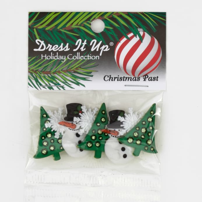 zoom dress it up embellishment buttons christmas past - Christmas Buttons