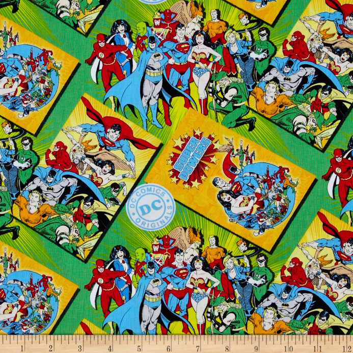 Fabric Book Cover Buy : Dc comics comic book covers green discount designer